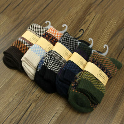 5 Pairs Men's Warm Winter Thick wool mixture ANGORA Cashmere Socks