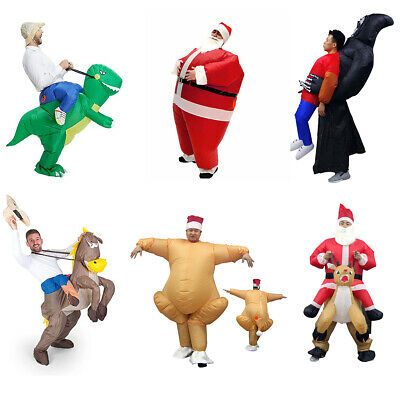 Adult Inflatable Fancy Blowup Funny Dress Costume Halloween Party Xmas Fat Suits