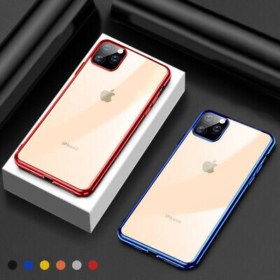 For iPhone 11 2019 Case Plating Bumper Transparent Clear Shockproof TPU Cover