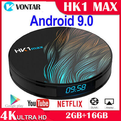 Android 9.0 HK1 MAX Mini Smart TV Box 4K HD BT4.0 RK3328 Quad Core Wifi TV LF
