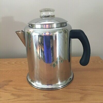 Stainless Farberware Stovetop Percolator Coffee Maker Pot 12 Cup VERY CLEAN