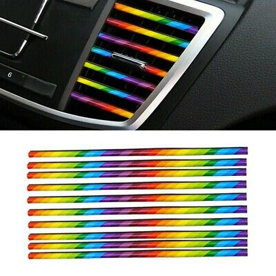 Universal Car Accessories Colorful Air Conditioner Air Outlet Decoration Strip K