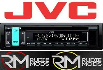 Single Din JVC KD-R491 CD with Front USB, Aux, FLAC & Variable Colour Display