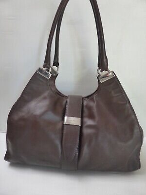 Sac cabas cuir marron COCCINELLE bohème chic leather bag