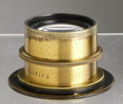 Euryscop, antique brass lens for Wood & Brass Plate Field cameras _ collodion __