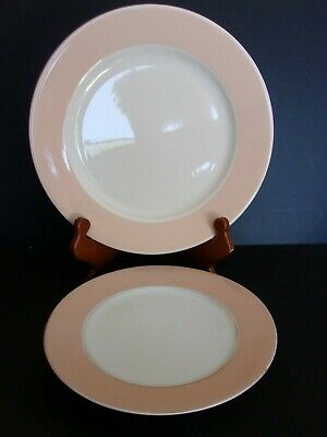 Lot of 2 One Homer Laughlin Restaurant Ware Dinner Plate&an Unmarked Salad Plate
