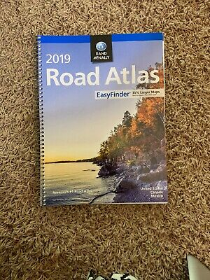 NEW Rand Mcnally USA Road Atlas 2019 BEST Large Scale Travel Maps United States