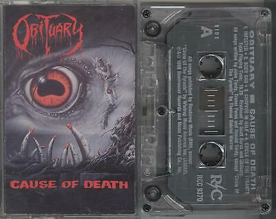 Obituary - Cause Of Death RARE CLEAR TAPE 1990 R/C Autopsy Morgoth Celtic Frost