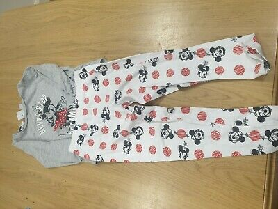 Girls 2 Pairs Pyjamas Including Mickey Mouse Age 34 Years...