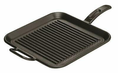 Lodge 12 Inch Square Cast Iron Grill Pan. Ribbed 12-Inch Square Cast Iron Grill