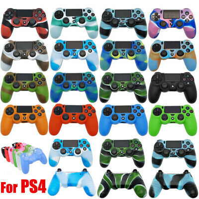 Camouflage Silicone Cover Rubber Grip Case for Sony Playstation 4 PS4 Controller