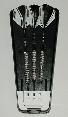 REVERSIBLE 22 Gr Steel Tip Darts W Balancepoint ACE Moveable Points RINGED GRIP