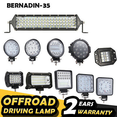 LED Work Light Bar Spot Flood Combo Offroad Driving Lights Lamp Truck 4x4 Car
