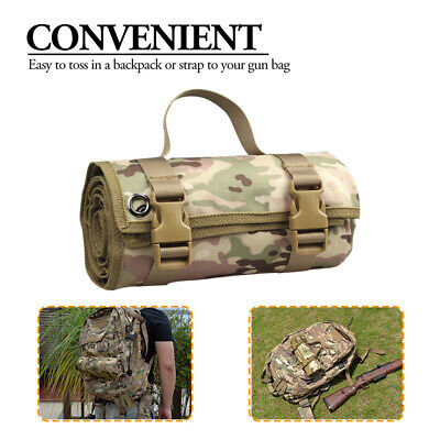 Rifle Gun Mat Padded Range Target Shooting Shoot Waterproof Roll Up Universal
