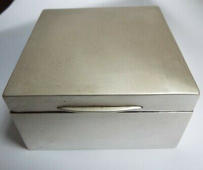 Lovely English Antique 1920 Solid Sterling Silver Cigarette Table Jewel Box