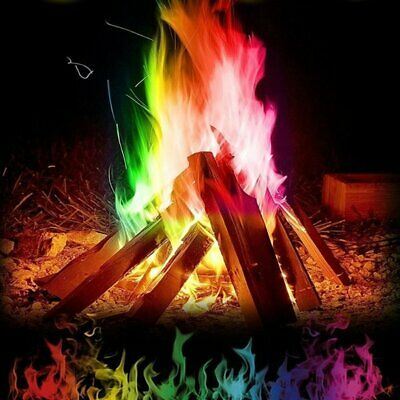 Mystical Fire 24 pkts - Magical Fire Colourful Color Changing Flames Campfire LK