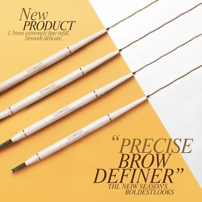 Very Fine Double-Headed Eyebrow Pencil Rotating Waterproof Not Blooming LK