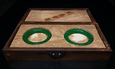 Chinese Qing Dynasty Court collection jasper jade bracelet Dragon box
