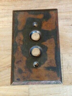 Antique Vintage Brass Push Button Light Switch Lamp Part