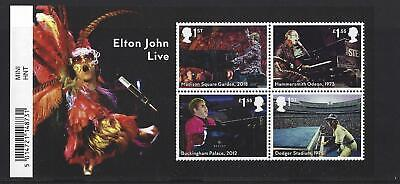 Great Britain 2019 Elton John Miniature Sheet With Barcode Unmounted Mint, Mnh