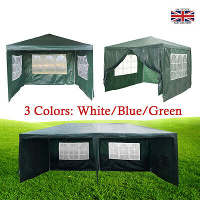 Heavy Duty Gazebo Marquee Canopy Waterproof Garden Party Tent 3 Color 3x3M/4M/6M