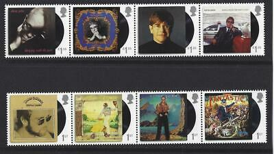 Great Britain 2019 Elton John Set Of 8 Stamps In Two Strips Unmounted Mint, Mnh