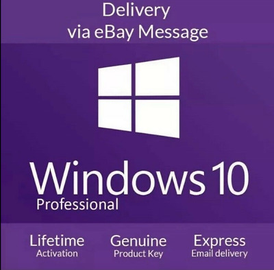 Genuine Windows 10 PRO  Activation Product Key Code [5 seconds Quick Delivery]