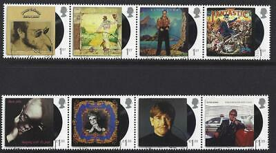 Great Britain 2019 Elton John Set Of 8 Stamps In Two Strips Fine Used
