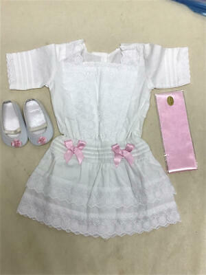 AMERICAN GIRL REBECCA's WHITE LACE SUMMER DRESS OUTFIT W/SHOES & RIBBON