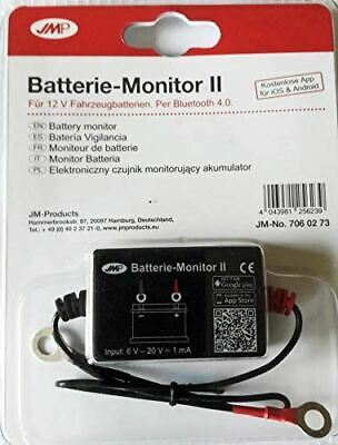 JMP Battery Monitor V2 - 6 or 12 Volt Bluetooth to Mobile for Motorcycles