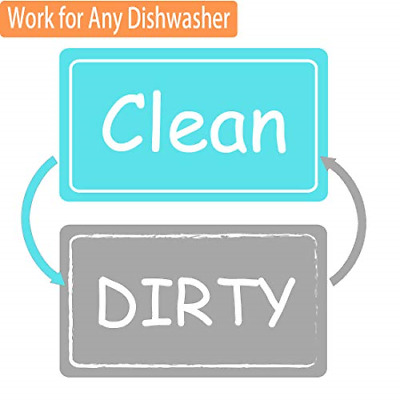 Dishwasher Magnet Clean Dirty Sign Strongest Magnet Double Sided Flip With Bonus