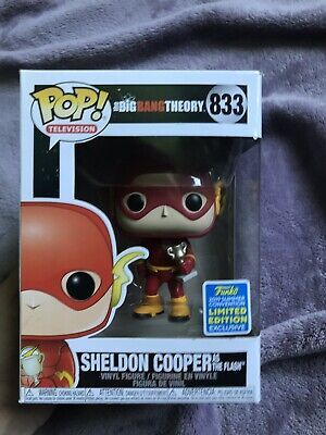 Funko Pop Sheldon Cooper The Flash SDCC Exclusive The Big Bang Theory #833