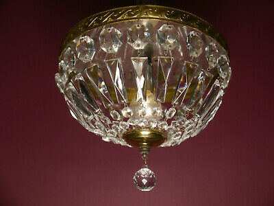 Small Crystal Ball Glass Ceiling Lamp Light Chandelier Used Plafonnier Brass