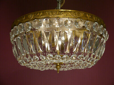 Classic Brass Crystal Ceiling Lamp Lightings Used Plafonnier 3L Home Decor