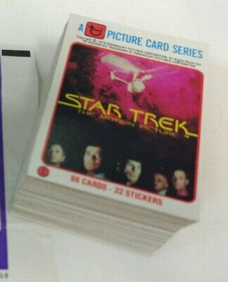 1979 Topps Star Trek The Motion Picture .. Complete 88 Card Set