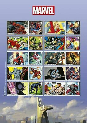 GB Royal Mail 2019 - Marvel Comics 1st class Stamp sheet mint unused condition