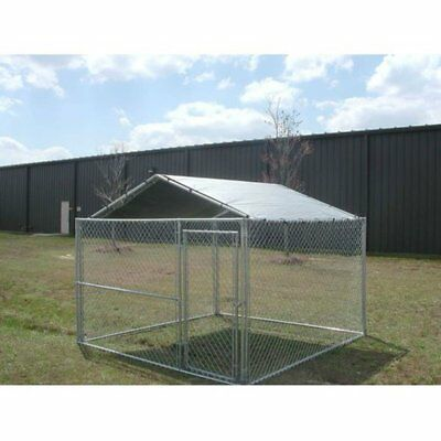 King Canopy Dog House Kennel Cover - 10 by 10 -Feet Silver, Gray, Small 11 - 25