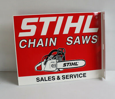 STIHL CHAINSAW FLANGE SIGN Sales Service  modern retro  chain saw