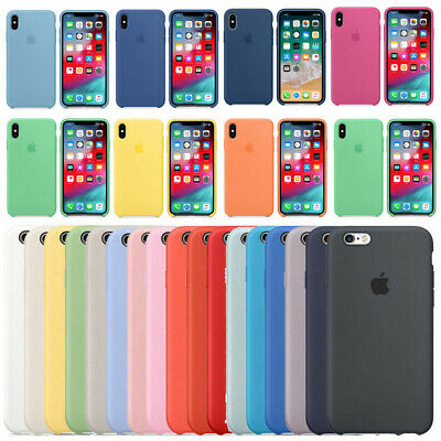 Genuine Original Silicone OEM Case Cover For Apple iPhone X XR XS Max 7 8 Plus