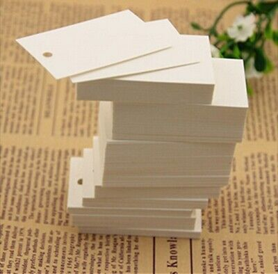 1250Pcs Plain White Clothes Price Tag 3.5X5cm