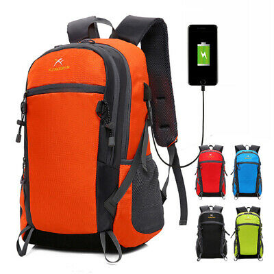 Anti-theft Unisex USB Charging Backpack Laptop Notebook Travel Bag Rucksack