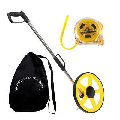Foldable Distance Measuring Wheel Black Bag Tape Surveyors Builders Road Land