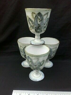Studio Pottery Stoneware Small Goblets X 4 All In Very Nice Condition.