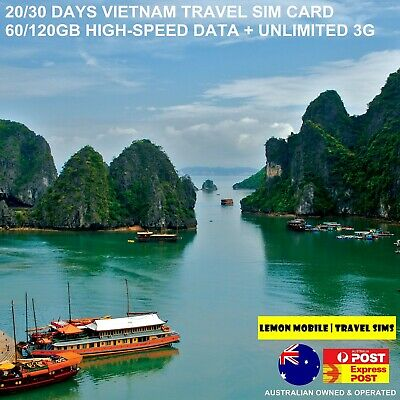 20/30 Days Vietnam Travel SIM Card | 60/120GB High-speed Data | Plug-n-play