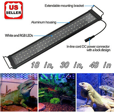 LED Aquarium Light Full Spectrum Freshwater Fish Tank Plant Marine 18 30 48 in