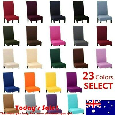 4/6/8PCS Spandex Dining Chair Covers Stretch Slip Cover Wedding Banquet Party AU