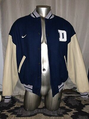 hot sale online e6835 6b8c1 NIKE LETTERMAN WOOL LEATHER JACKET SEATTLE MARINERS BASEBALL ...