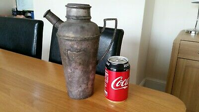 Very Rare Antique Art Deco Silver Plated Elkington 290 Cocktail Shaker Tarnished