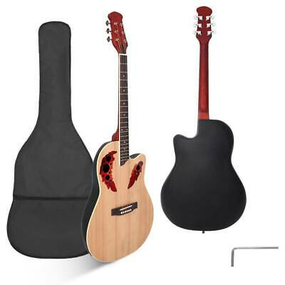 "New 41"" Right Handed Acoustic Guitar with Bag Natural Color"