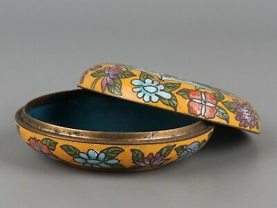 Chinese Exquisite Handmade Flower pattern Copper Cloisonne box